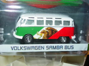 Greenlight VOLKSWAGEN SAMBA VW BUS MEXICO SOCCER -Red, White, Green MIP