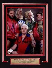 WWE WCW RIC FLAIR FOUR HORSEMEN 11X14 Matted Namplate PHOTO AUTOGRAPH JSA