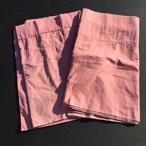 "2 Country Rose Pink Valances Croscill 17"" x 82"" Polycotton"