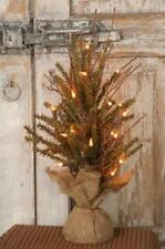 "GERMAN FIR 18"" RUSTIC TWIG COUNTRY CHRISTMAS TREE WITH 20 LIGHTS. TABLETOP TREE"