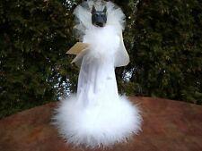 """11-1/2"""" Black Doberman Angel Tree Topper Figure Da53 by Two Sisters & Co (1993)"""