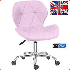HOMEEZZE®Adjustable Swivel Lift Office Chair Fabric Computer Desk Chrome Legs UK
