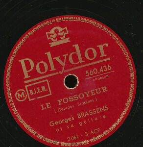 GEORGES BRASSENS 78 TOURS RPM FRANCE LE PARAPLUIE.