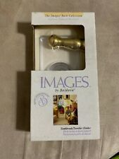 """Images By Baldwin """"AVALON"""" Polished Chrome/Brass Toothbrush /Tumbler 3557-263"""