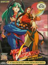 DVD Anime Night Warriors Complete OVA Series Episode 1-4 End English Version R0