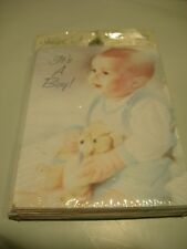 New Pack 8 Birth Announcements Its A Boy Blue Note Cards & Envelopes Party