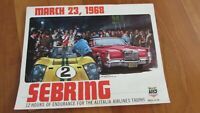 1968 Sebring 12 hour race program Siffert Hermann win Porsche 907 78 pages entry