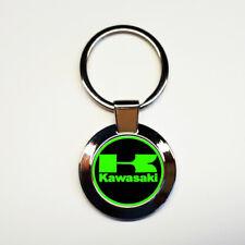 Porte-clés acier inoxydable rond kawasaki