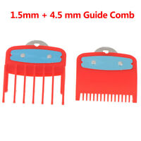 1.5+4.5mm Size Guide comb  Red Attachment Comb Set with a Metal Holder Clipper