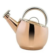 Stovetop Tea Pot Kettle Copper 10.57 Cup 2.6L Whistling Hot Water Boiler Coffee