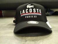 Lacoste Men's Classic Paris Sport Poly Super Sport Croc Logo Adjustable Hat Cap