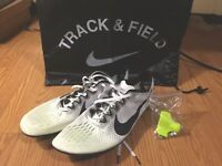 NIKE ZOOM VICTORY ELITE 2 UNISEX TRACK & FIELD WITH SPIKES & BACKPACK WHT/BLACK