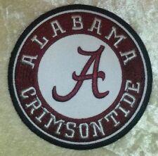 "Alabama Crimson Tide NCAA 3.5"" Iron On Embroidered Patch ~FREE Ship`!!"