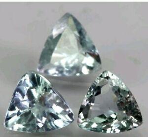 Natural Top Multi-Colors Tanzanite Trillion 3pce 1.09ct 5mm Unheated