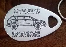 Personalised KIA SPORTAGE  keyring ANY NAME engraved aluminium custom made gift