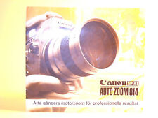 Original(!) Canon AUTO ZOOM 814 Sales Brochure - in Swedish!