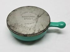Vintage Harrisburg PA Dairies Glasbake Cottage Cheese Container Bowl Metal Lid