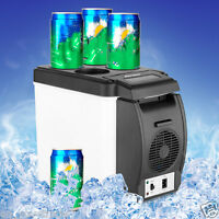 12V 6L Car Mini Fridge Portable Thermoelectric Cooler Warmer Travel Refrigerator