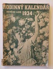 1934 Rodinny Kalendar, Noveho Lidu, Czechoslovakia Magazine