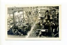 Keene NH RPPC real photo machine shop interior, tools, equipment, industrial