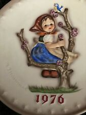 Vintage 1976 Goebel Hummel Tmk5 Annual Plate 7.5� Apple Tree Girl