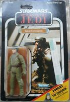 VINTAGE STAR WARS ROTJ 1983 REBEL COMMANDO 65 BACK MOC CHINA CLEAR EMPEROR OFFER