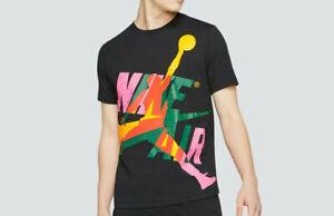 $40 Mens Nike Air Jordan Jumpman Classics Crew T Shirt Black Raygun Match DNA