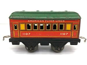 American Flyer Lines Train Passenger Car #1107 O Gauge Tin Litho