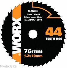 WOOD METAL DISC BLADE FOR WORX HANDYCUT MINI CIRCULAR SAW WA5031 44 TEETH HSS