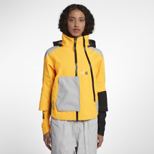 Nike Lab ACG GoreTex Waterproof Coat Women's Black Yellow Packable - Size Small