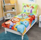 Cocomelon 4-piece Toddler Bedding Set Reversible Comforter & Pillowcase