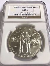 2004-P  $1  Silver Coin Lewis & Clark     NGC  MS 70