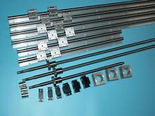 SBR16-300/600/800mm linear rail+RM1204 screw+BK/BF10 end bearing+nut housing CNC