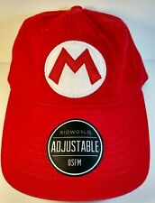 Nintendo Super Mario Hat Cap Strapback One Size Red Bioworld Patch NWT