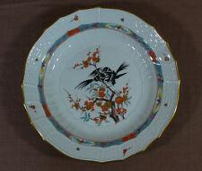 Meissen Teller Neubrandenstein * Japanische Vogel Blumen Astmalerei * Ø ca.25 cm