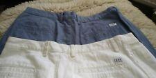Mens Izod Golf Shorts (2 × Pairs) White, Blue, W34