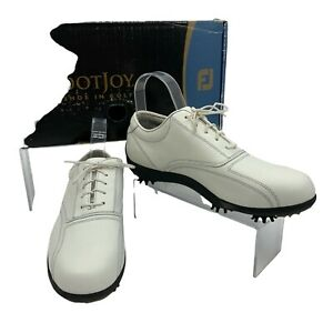 Footjoy Golf Shoes Women Size 8 Wide LoPro Collection White Soft Spike 97011 New