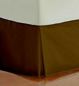 1 PC Bed Skirt US & RV Sizes All Drop Length Chocolate 1000 TC Egyptian Cotton