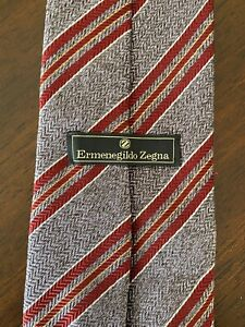 Ermenegildo Zegna Multicolored Purple/Burgundy Tie