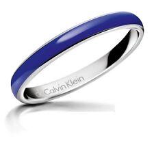 Nuevo Calvin Klein Acero Inoxidable Y Azul Sólido brazalete KJ51AB0105 pequeña £ 80