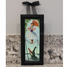 Haunted Mansion Stretching Portrait Framed Canvas Art of Disney Tightrope Walker