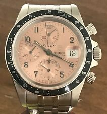 Rolex/Tudor Tiger Chronograph w/ very rare Salmon dial with Tiger box