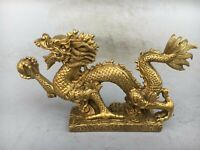 Chinese Perfect auspicious Brass Leopard Cheetah Animal Statue