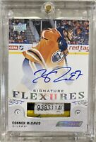 2018-19 ENGRAINED FLEXURES CONNOR McDAVID AUTO GAME USED STICK SERIAL TAG RELIC