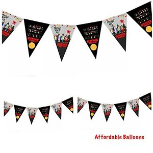 10 X Stranger Things Party Flags Banner. Stranger Things Party Decorations