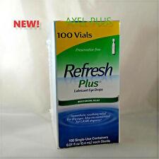 Refresh Plus Lubricant Eye Drops,  Moisturizing Relief, 100 Single Vials