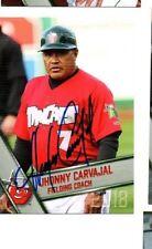 Jhonny Carvajal signed autographed 2018 Fort Wayne Tincaps card b
