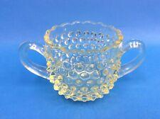 Vintage Used Depression Era Amber Glass Two Handled Cup Mug Decorative