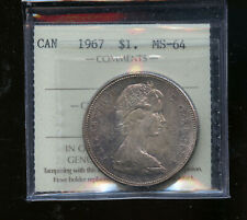1967 Canada Silver Dollar ICCS Certified MS64 DCB118