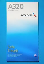 AMERICAN AIRLINES SAFETY CARD--AIRBUS 320